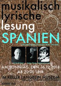 Spanische, musikalisch-literarische Nacht @ Keller im Langbein Museum