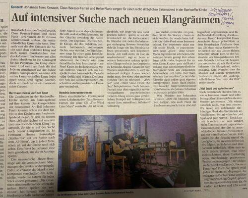 Kritik Konzert Hemsbach